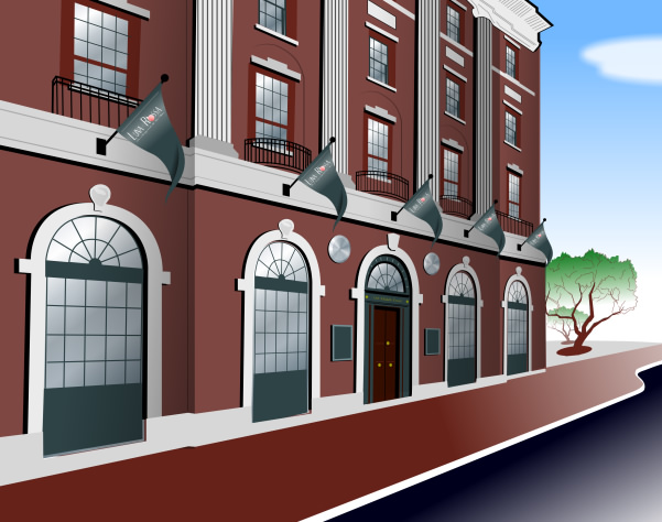 Studio B vector illustration of Middle Street building - Portland ME, for Silver Street Management / Commercial Properties